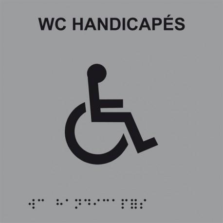 Plaque de porte Braille WC handicapé