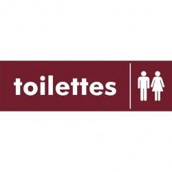 Toilettes dames et hommes Plexi